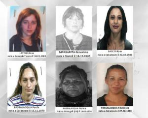Le donne arrestate