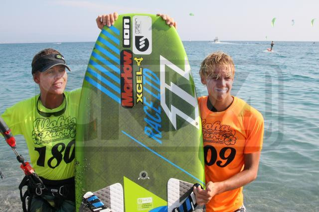Steph e Oliver Bridge, i vincitori dell'European Course Racing Championship di Kitesurf