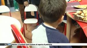 Natale: il Football Club Crotone al reparto di pediatria