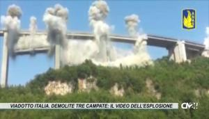 Viadotto Italia. Demolite tre campate: il video dell'esplosione