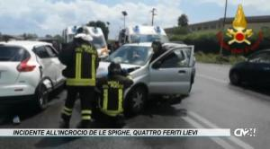 Crotone. Incidente all'incrocio de Le Spighe, quattro feriti lievi